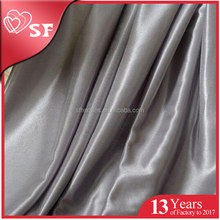 Polyester cheap wholesale woven shiny colorful silk fabric satin manufacturer