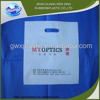Wholesale printed recyclable reusable reusable shopping bag and die cut shopping bags