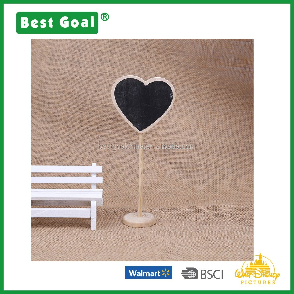 Kids mini wooden chalkboard with stand