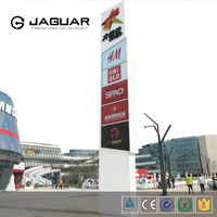 Outdoor advertising double side lighted freestanding led pylon signs