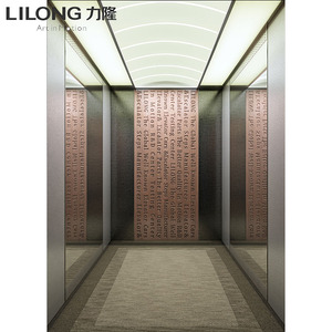 China suppliers passenger elevator cabin with etched stainless steel walls