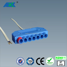 Dongguan led Waterproof OEM/ ODM LED Switch Connector, 7 branch led distributor 1 branch for switch