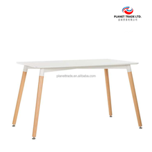 Modern Ikea EMES DSW style table with wood legs for dinning room Office bar Restaurant different color available Rectangle White