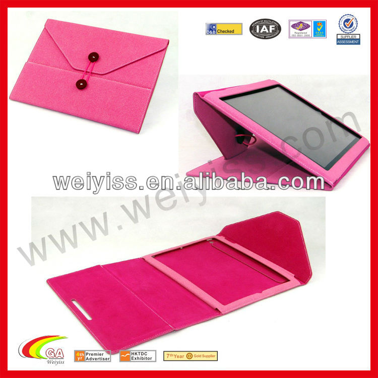 tablet case for ipad case jeans leather smart cover OEM factory