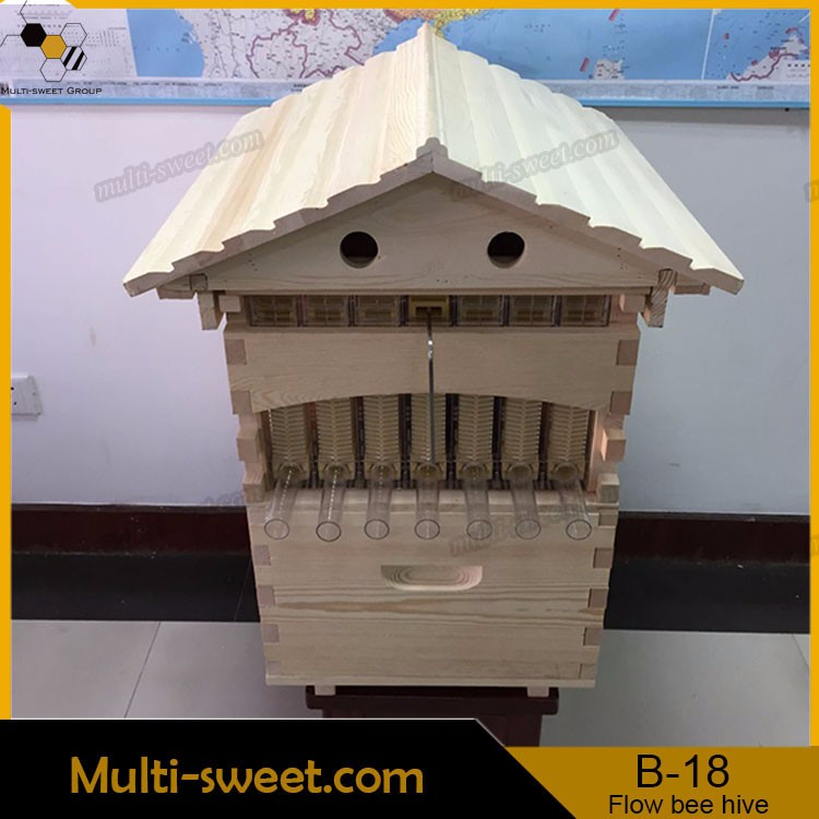 Truly original beekeeping equipment desigher AUTOMATIC langstroth plastic honey flow beehive