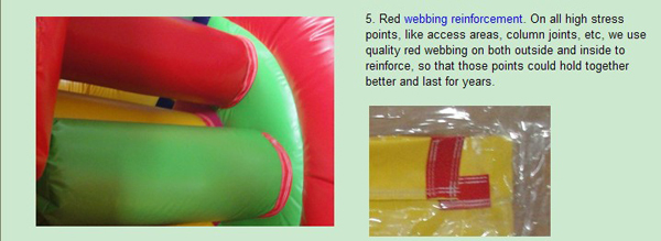 double lane green inflatable pool slide