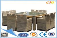 Factory Price HOT Selling two level glass dining table