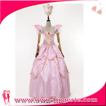 Deluxe Pink Fairy Tale Elf Cartoon Costume For Women Adult Sexy Christmas Costume
