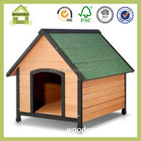 SDD04 top selling wood peak roof dog house