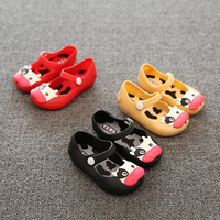 X60763A Animal Pattern kids Jelly Sandals Soft Bottom Sandals