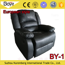 latest style living room black sofa,single sofa recliner,function of manual and electric sofa