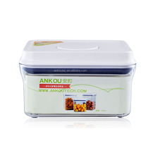 Strongly Sealing 700ML Food Grade BPA Free Rectangle Plastic Containers/ Air tight dry food container airtight flip top