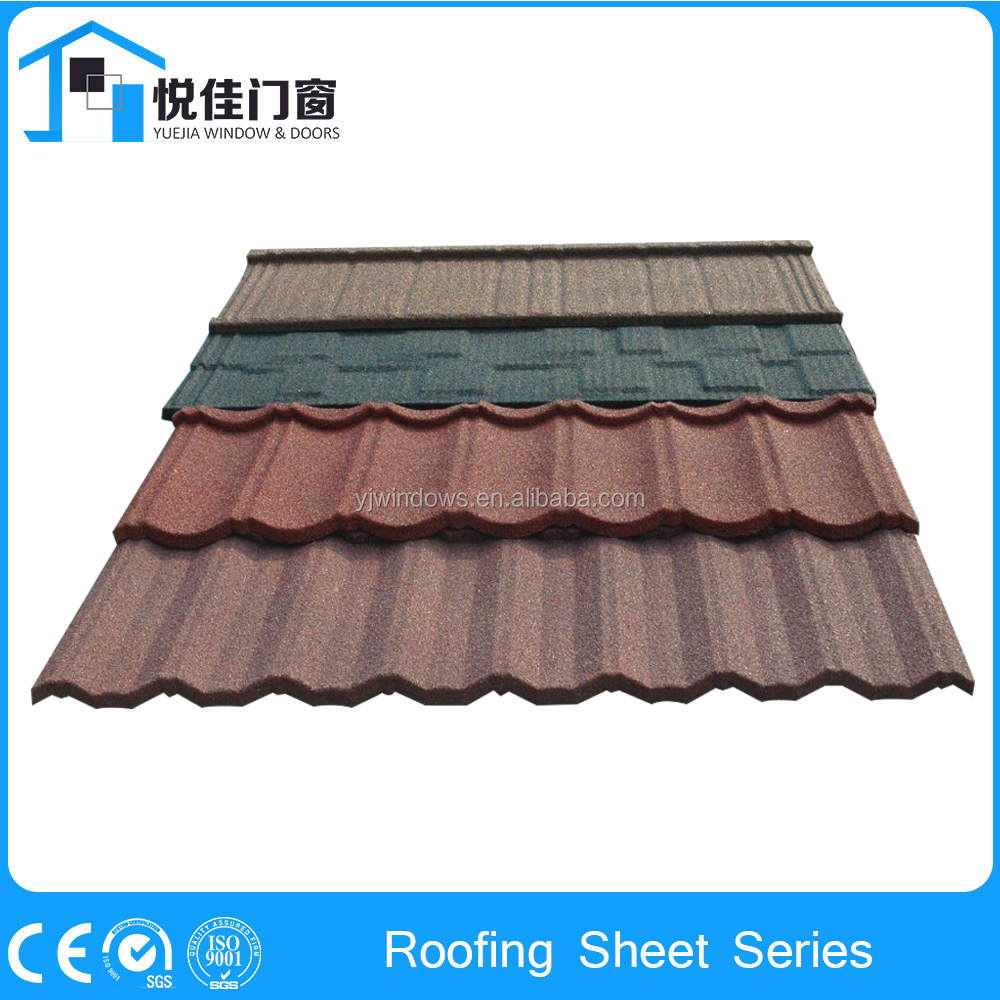 Classic Colorful stone-coated metal roof tile for house prices
