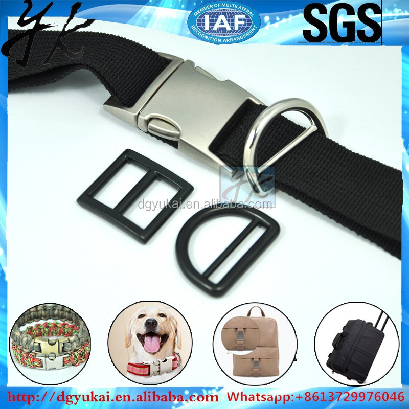 high quality side release Metal buckle for dog collar and luggage