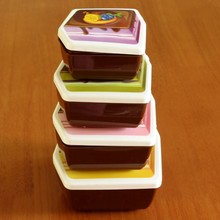 4 Colors Cartoon Cute Plastic Lunch boxs Food Fruit Storage Container Microwave Children Gift