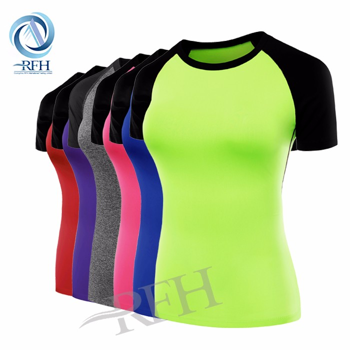 2016 fitness mini t shirt and pants custom made clothing color combination color women t-shirt