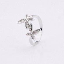 new design zirconia butterfly valve set ring with cz pave setting for women