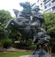 Napoleon riding statue run horse