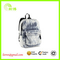2017 new designed enviroment-friendly washing jeans backpack