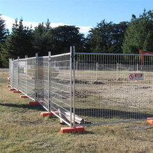 Waterproof welded wire temporary fence panels for housing