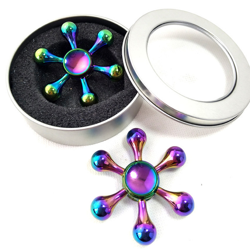 2017 New bulk fidget spinner alibaba 6 winged spinner