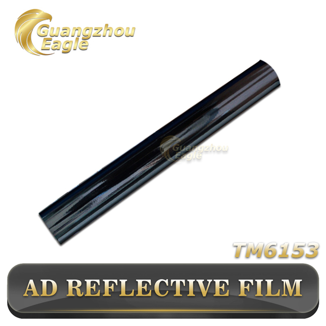 1*50m Black Customized Advertisement License Plate Self-Adhesive Reflective Film
