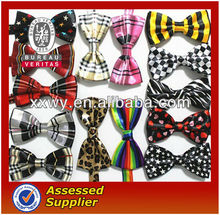 2013 wholesale latest fashion cheap silk printed narrow high quality knitted large funny party flashing uniform costume bow ties