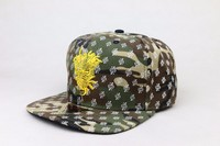 Custom Military Woodland Camo Men's Army Baseball Cap With Embroidered