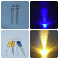clear lens red green white blue yellow round diodes leds 5mm