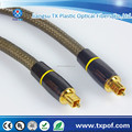 24K Gold plated Digital Optical Fiber Optic Toslink Audio Cable (S/PDIF)-metal connectors&braided nylon jacket
