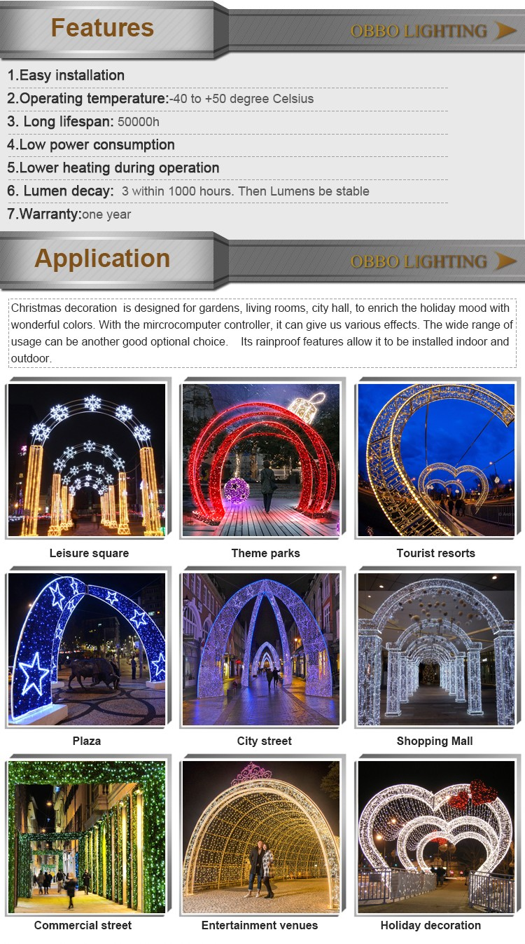 Alibaba products christmas arch decoration blue arch for street