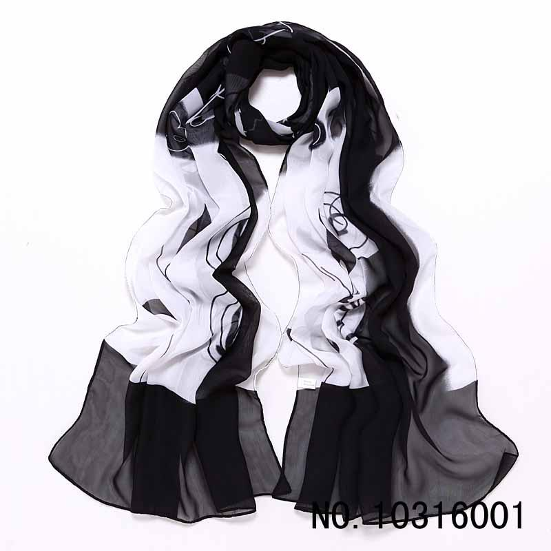 Floral Printed Black Hijab Women Classy Cotton Voile Print Colorful Flowers Long Shawl Wrap bubble chiffon scarf