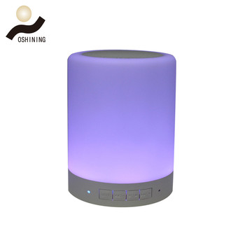 Dimmable RGB Blue tooth Speaker Touch Light Rechargeable Wireless Speaker