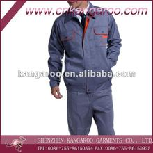 Men's 100% Cotton Twill 230gsm Worker Working Uniform with Two Pen Pockets