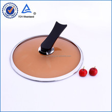 Yongchuang tempered glass pot cover with silicone handle