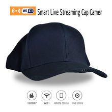 H-1 P2P Wifi 1920*1080P HD Wearable Hidden Mini Camera Sport Hat Cap Motion&Family Live Video Camcorder DVR With Audio Function