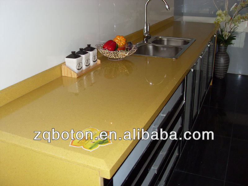 gelb quarz arbeitsplatte sgs genehmigung waschtischplatte arbeitsplatte kunststein tischplatte. Black Bedroom Furniture Sets. Home Design Ideas
