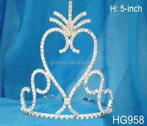 Rhinestone mens partial crown design royal crown and sceptre