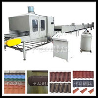 Hot sell color stone coated steel roof tile production line