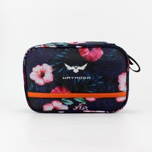 Hot-sale unisex wholesale black nylon/polyester soft cosmetic bag