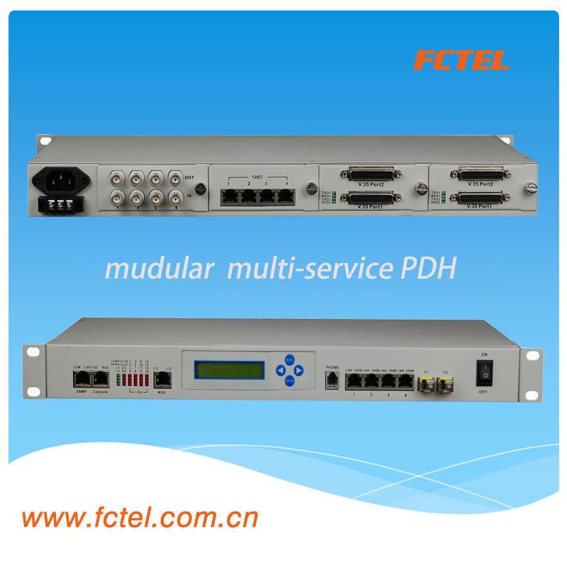 19 inch rack mounted Fiber Optic PDH Multiplexer sdh & pdh