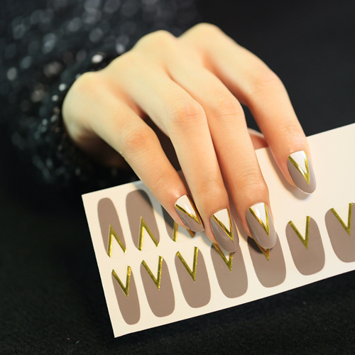 Beautysticker Grey Type Nail Art Designs Full Cover Nail Wrap View