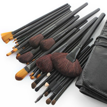 Cheap professional makeup sets wholesale custom logo makeup brushes black 32pcs good quality make up brush set