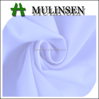 Mulinsen Textile High Quality Plain Dye Soft White Polyester / Cotton Twill Fabric