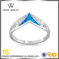 Top sales customize simple design women finger ring 925 sterling silver jewelry opal ring -RO0102195246