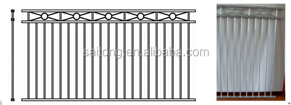 Saitong top quality garden double swing fence tubular gate