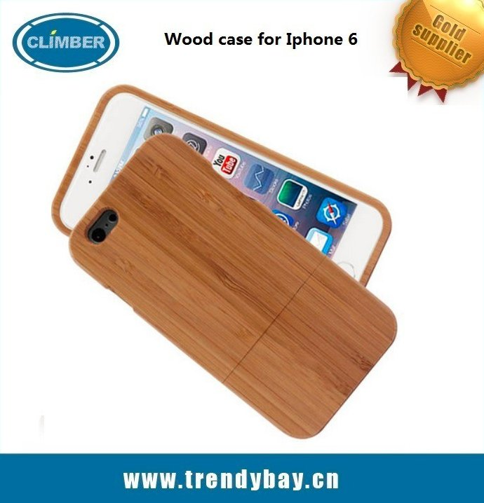 Hot selling real blank wood phone case for iphone 6