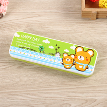 factory direct sale Double layers with support plastic pencil case S006 stationery product things
