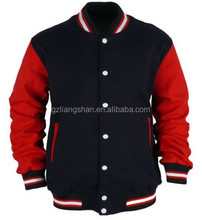 OEM Wholesale Letterman Varsity College Jacket Jersey Uniform Korea Baseball Two Tone Splicing Jackets