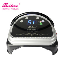 ce approved rechargeable manicure machine 64w led nail lamp wireless